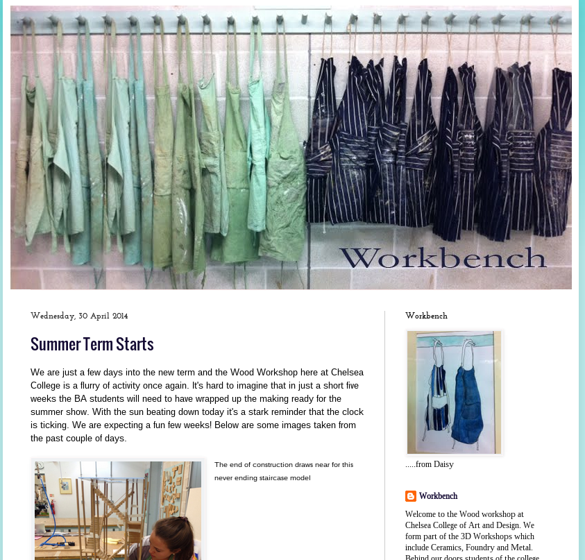 Chelsea Workbench blog
