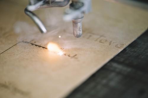 A custom laser engraving
