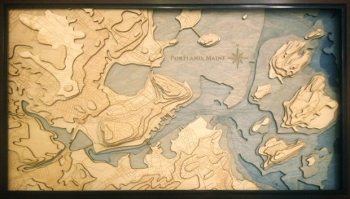Scott Shambaugh's finished laser cut map which he made for his parents